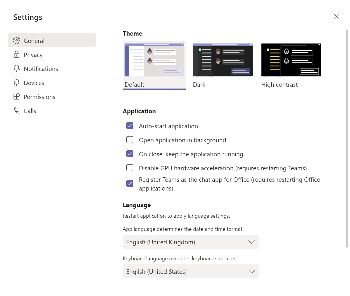 12 - Microsoft Teams settings