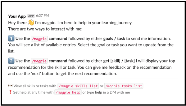 magpie for slack screenshot