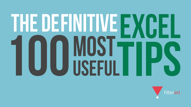 The Definitive 100 Most USeful Excel Tips