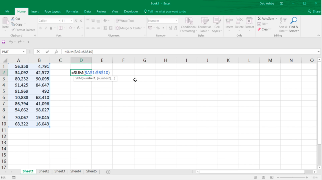How to used fixed references in Excel