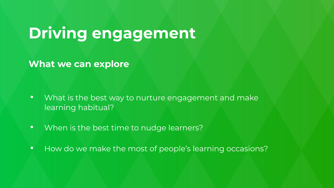 Driving engagement