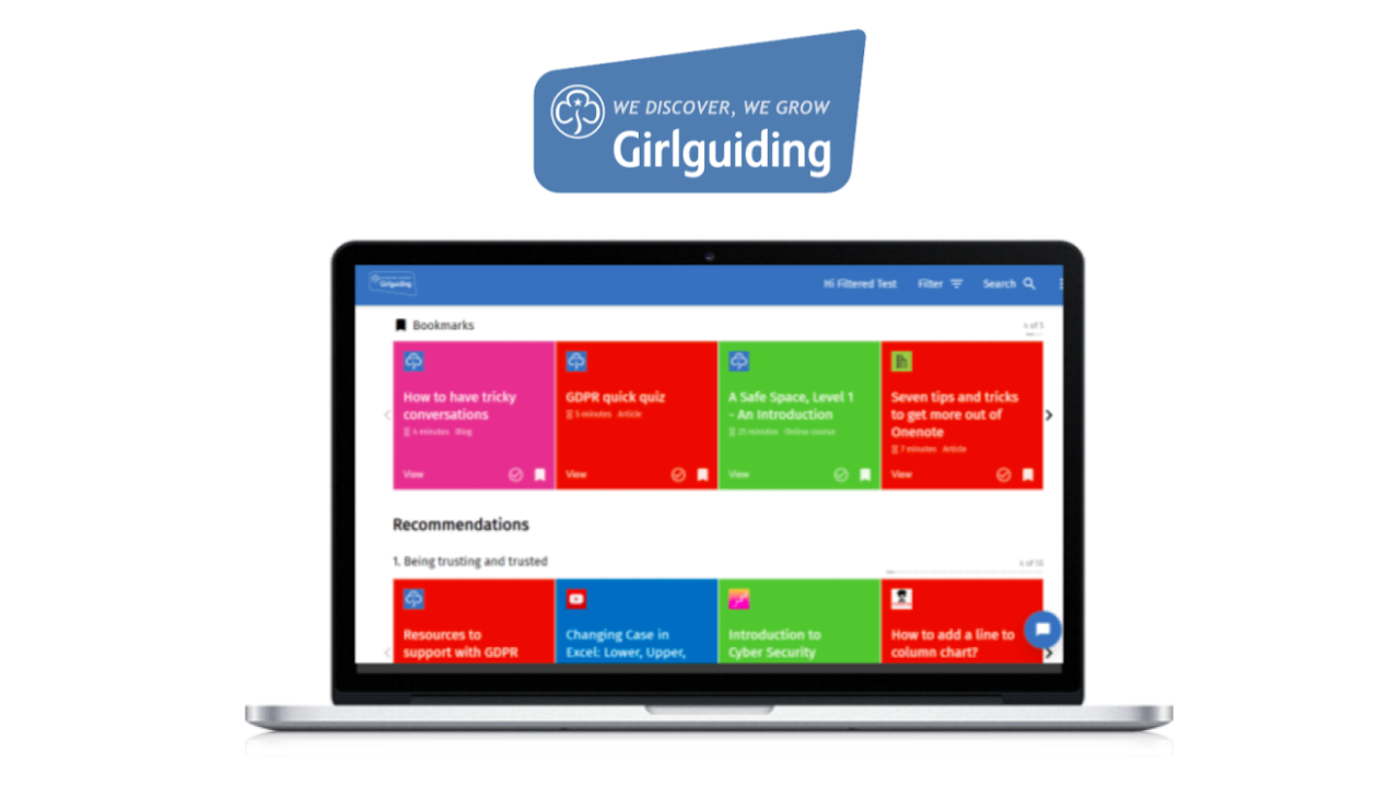 magpie user interface Girlguiding